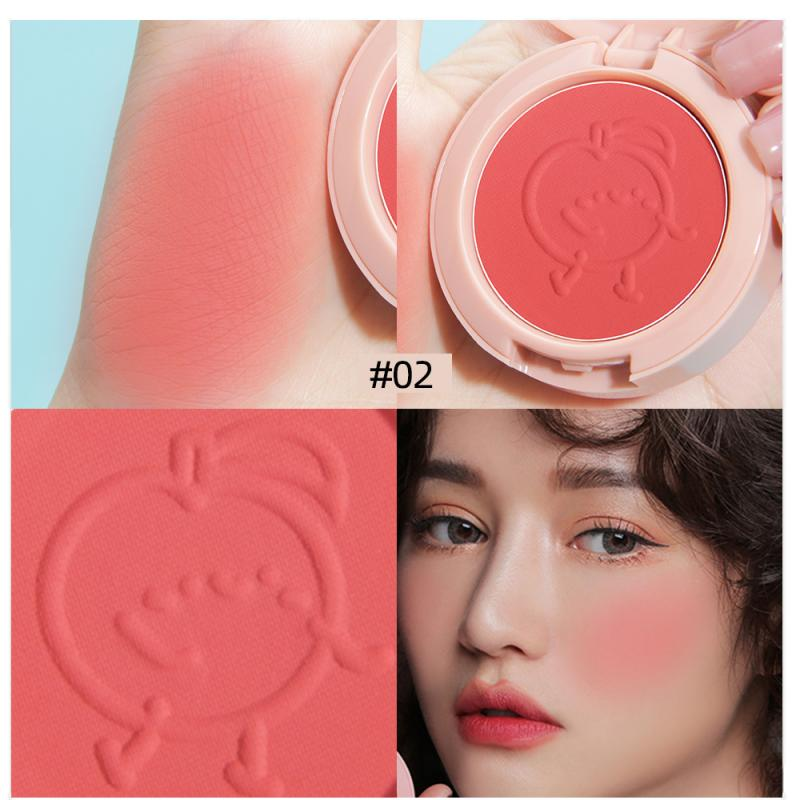 Monochrome Blush 6 Colors Face Mineral Pigment Cheek Blushe Powder Lightweight breathable Professional Makeup Blusher