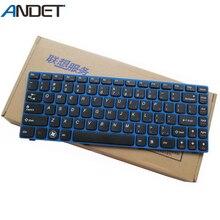 Nouveau clavier américain dorigine pour Lenovo Z470 Z370A Z470A Z475 Z370 Z375 Z375A Z475A clavier dordinateur portable bouton noir cadre bleu