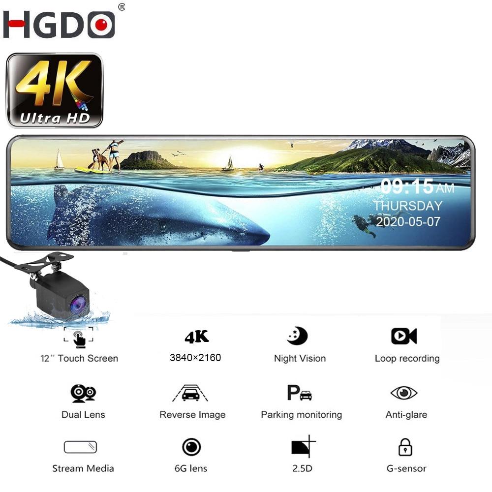 HGDO 4K سيارة DVR 2160P 12