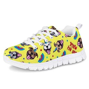 HYCOOL Children Flat Shoes Horned Animal Pet Dog Whale Print Kids Outdoor Sport Running  Sneakers Girls Jogging Leisure Footwear