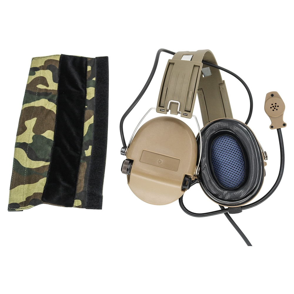 Tactical Softair Sordin Headset Pickup noise canceling headphones Hunting Airsoft Hearing protection Headphone DE enlarge