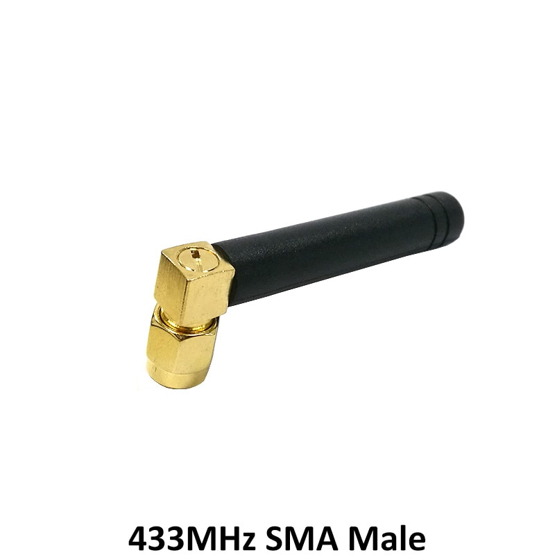 433MHz Antenna 2.5dbi SMA Male Connector 433 MHz antena Small size elbow rubber antenne Wireless Receiver for Lorawan enlarge