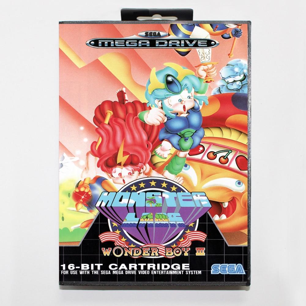 El chico maravilla III monstruo guarida 16bit tarjeta de juego MD para...
