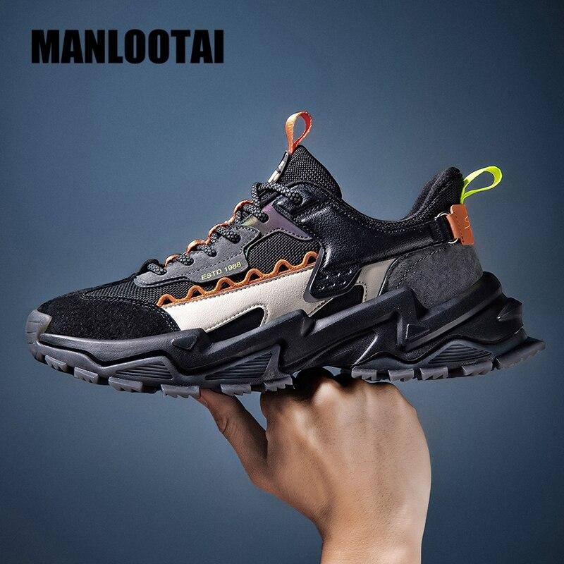 موضة الربيع 2021 الاتجاه حذاء رجالي تنفس سميكة القاع الرجال أحذية رياضية في الهواء الطلق مرونة عالية أحذية اللياقة البدنية رجل غير رسمية