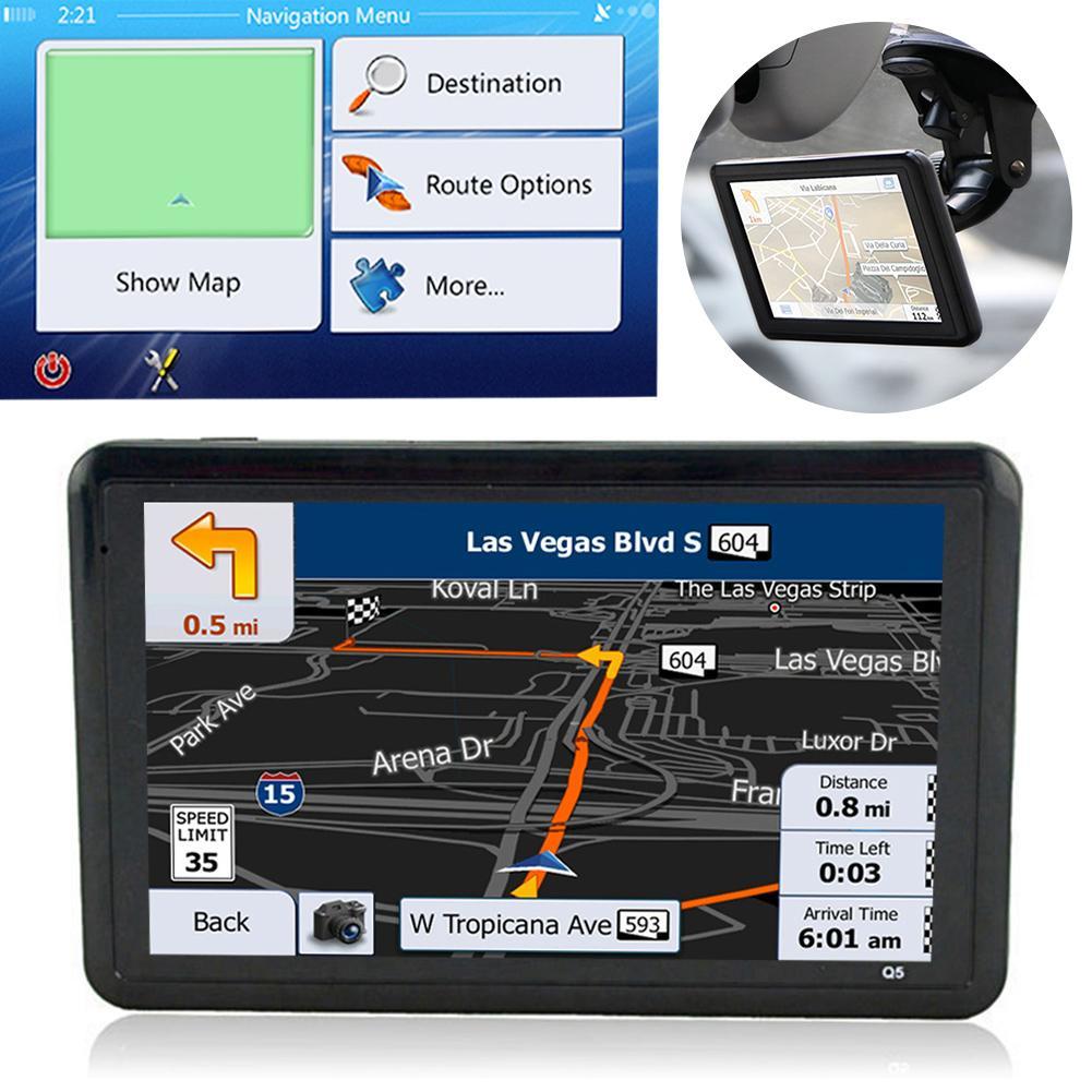 Автомобильный GPS-навигатор с USB-зарядкой, удобное автомобильное зарядное устройство, FM-передатчик, навигатор, 5,0 дюймовый сенсорный экран TFT, ...