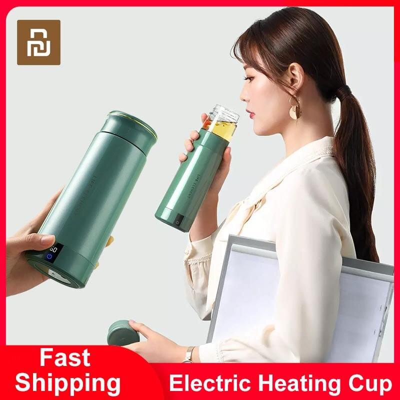 Youpin المحمولة غلاية كهربائية 300 مللي كوب حراري جعل الشاي القهوة السفر يغلي المياه الدفء الذكية غلاية OLED عرض المطبخ