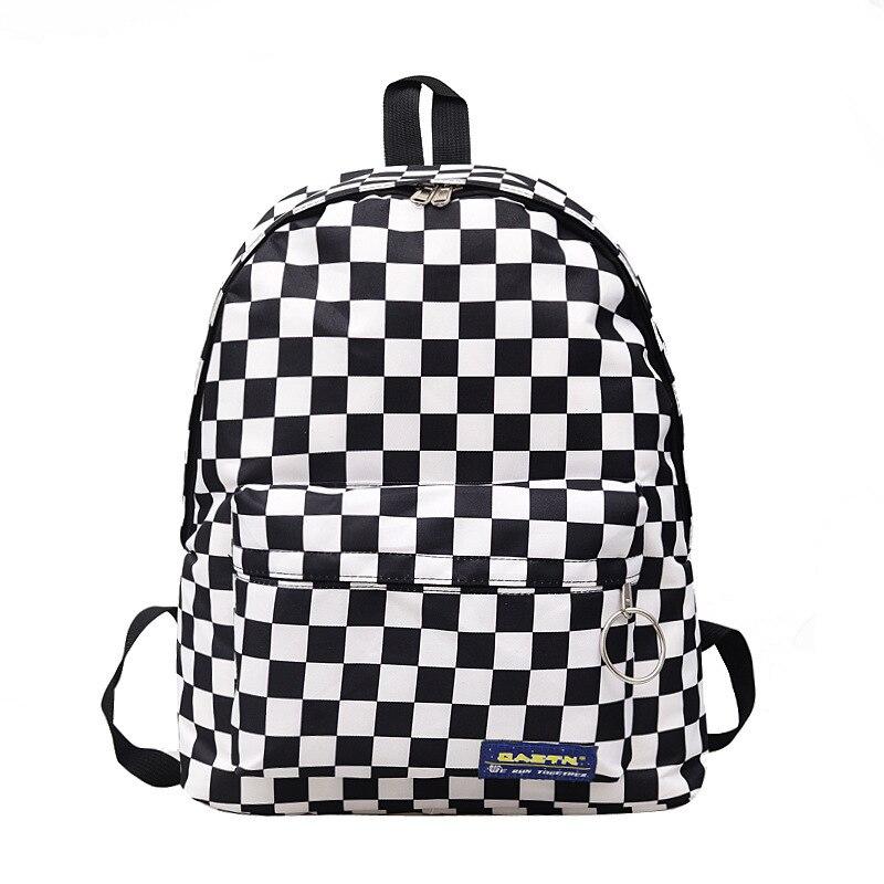 2020 унисекс, клетчатый нейлоновый женский дорожный рюкзак, рюкзак для ноутбука, Женский школьный Повседневный Рюкзак, женская сумка