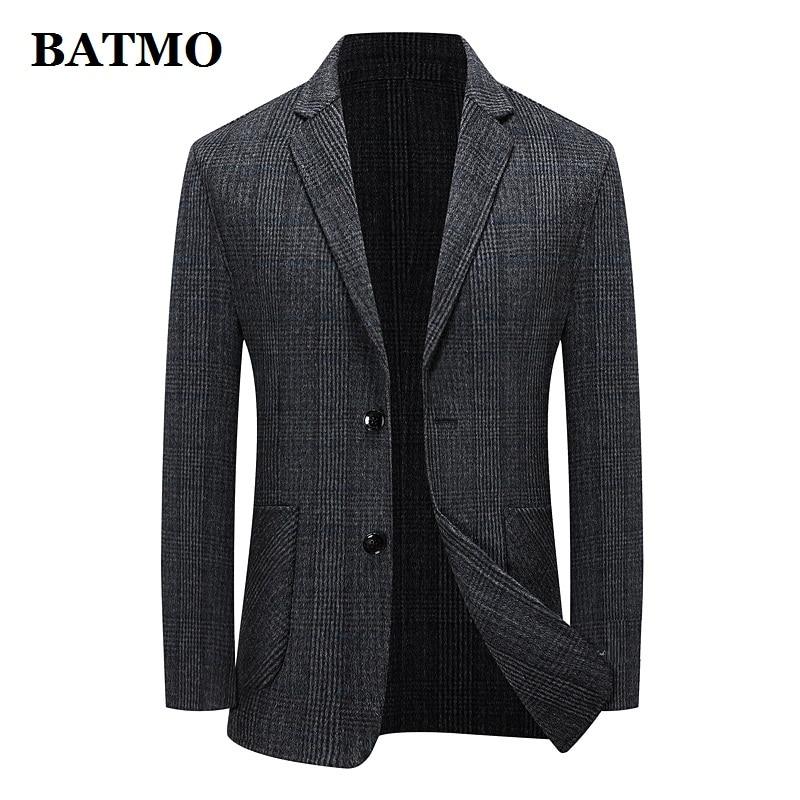 BATMO 2021 جديد وصول الخريف الصوف منقوشة سترة الرجال عادية ، بدلة رجالي سترة بليزر حجم كبير M-XXXL 173