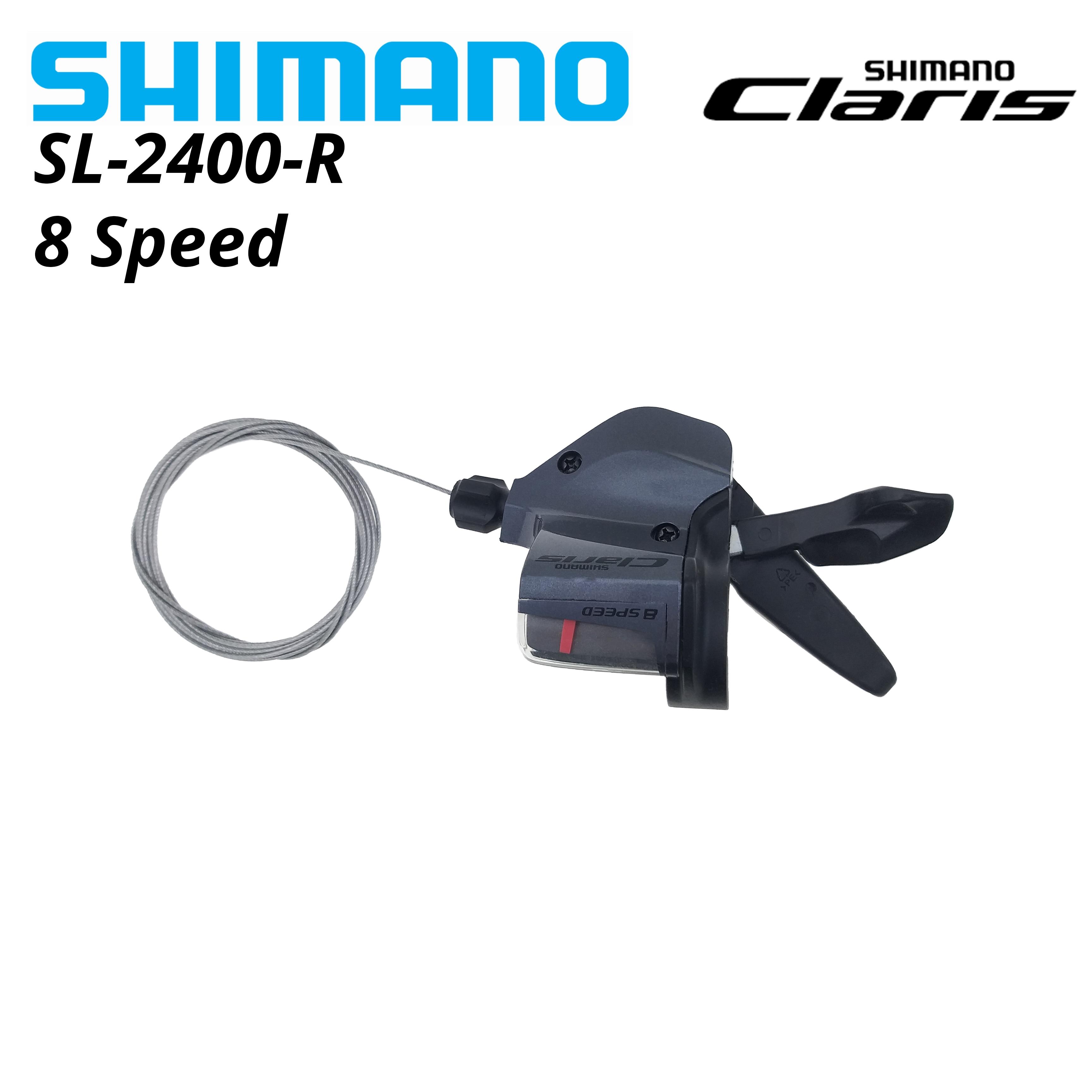 Shimano-SL-2400 claro con palanca de cambio, Barra plana DE 8 velocidades, 2400,...