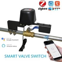 Vanne deau gaz WiFi Tuya Zigbee  maison intelligente  automatisation  controle par application  fonctionne avec Alexa Google Assistant Smart Life