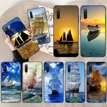 NBDRUICAI bateau à voile bateau de tourisme bateau Pirate housse de téléphone pour Redmi Note 8 8A 7 6 6A 5 5A 4 4X 4A Go Pro Plus Prime