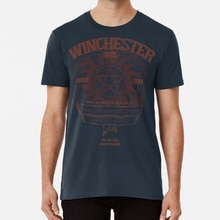 Winchester Bros T Shirt Supernatural Dean Sam Winchester Castiel Crowley Demon Hunters Hunter