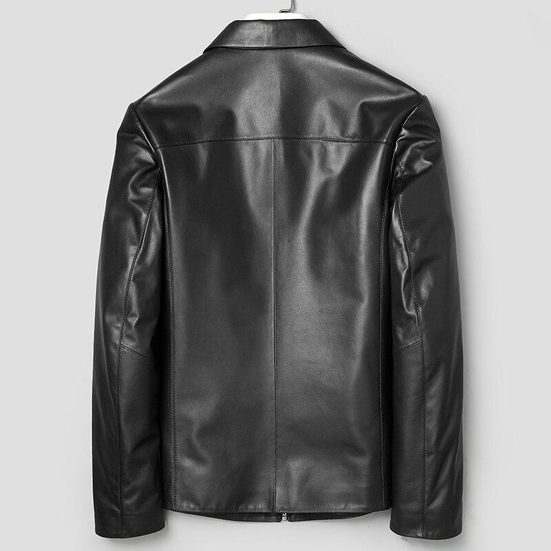 Leather Genuine Jacket Men Spring Real Sheepskin Coat for Men Leather Jackets Short Veste Cuir Homme 71J7867J KJ2110