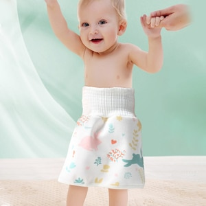 Baby Cotton High Waist Waterproof Diaper Skirt Children Diaper Training Skirt Pure Baby Cloth Diaper Urination Skirt Mat Cover