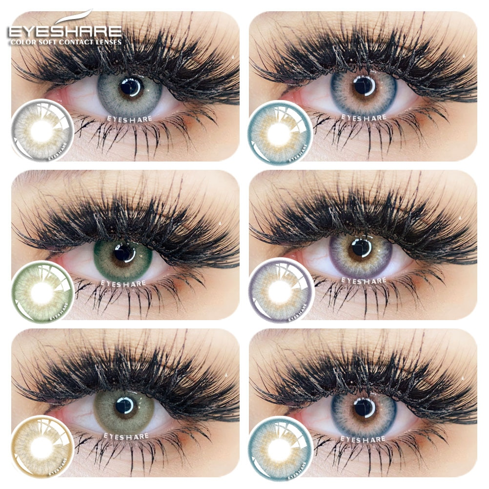 EYESHARE 2PCS/Pair Fashion SAIM Series Color Contact Lens Eye Colored Lenses Contacts Beauty Equipme