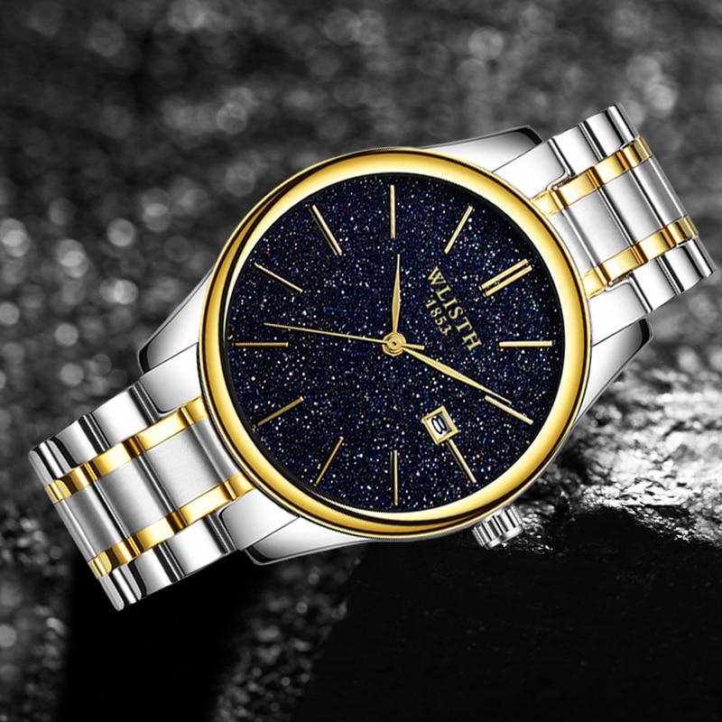 New Fashion Simple Men's Watches Starry Sky Waterproof Calendar Student Watch For Men Wristwatch