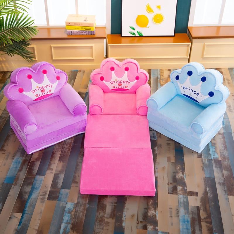 Silla pequeña desmontable con dibujos de animales para niños, asiento de felpa...