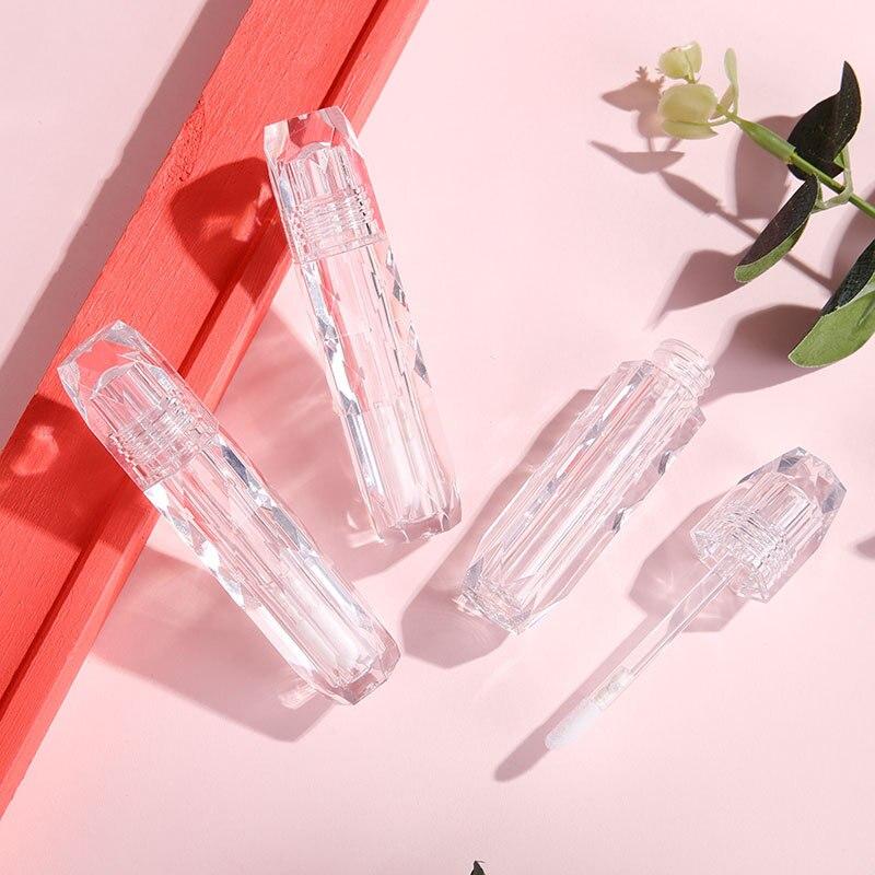 5 шт., прозрачный пластиковый контейнер для блеска для губ, 2 мл