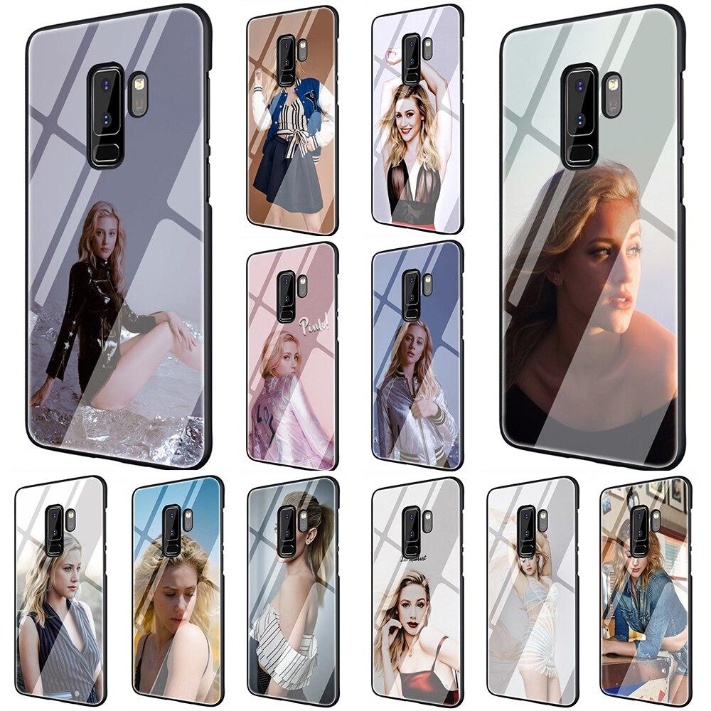 EWAU Лили Рейнхарт закаленное Стекло чехол для телефона чехол для samsung Galaxy S7 край S8 9 10 Plus, Note 8, 9, 10, A10 20 30 40 50 60 70