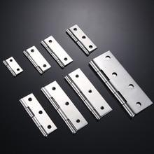 5Pcs 1/1.5/2/2.5/3 Inch Mini Flat Hinge Stainless Steel Cabinet Doors Windows Hinge Wooden Box DIY