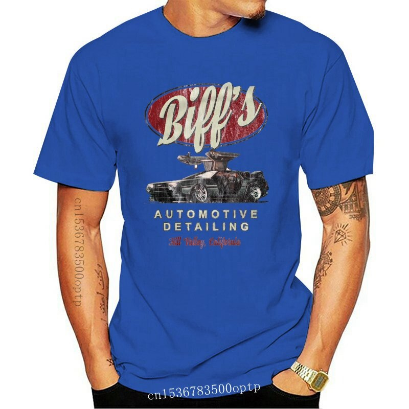 New T Shirt Biff'S Automotive Detailing Back To The Future In Die Zukunft Doc 100% Cotton Short Sleeve O Neck Tops Tee Shirts Pr