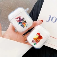 hot avatar the last airbender earphone case capa for apple aipods 1 aipods 2 cover clear silicone earphone coque etui