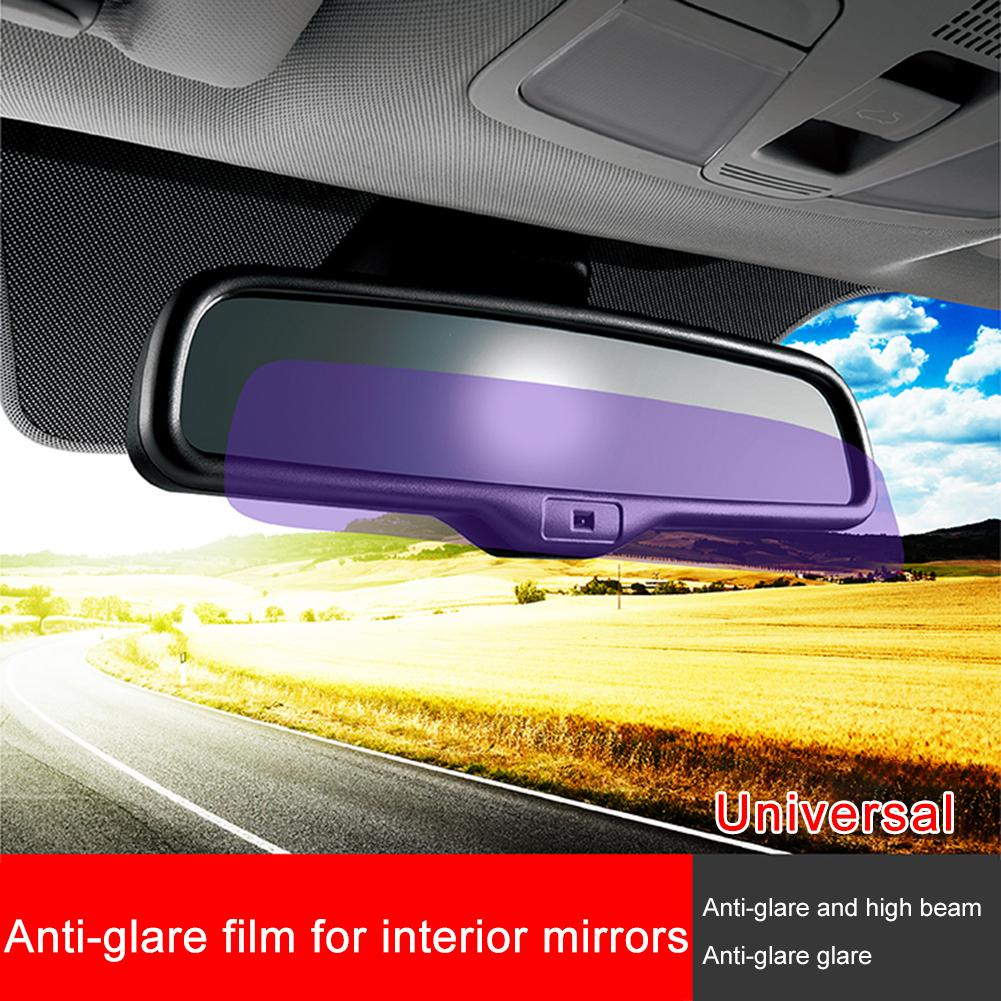 1PC Universal Car Interior Rearview Anti-glare Film Glare Rearview Mirror Protective Sticker Auto Styling Parts