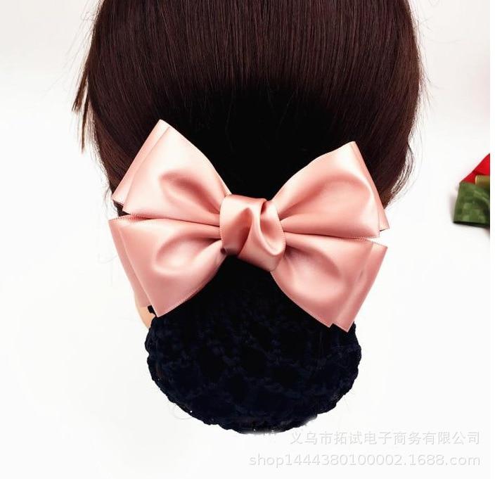 Korean simple stewardess bank nurse hotel staff work hair clip hair net bag wholesale professional head flower handmade net bag