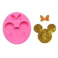 diy bowknot mouse silicone mirror epoxy keychain pendant mold making apparel pendants aromatherapy car hanging silicone mold