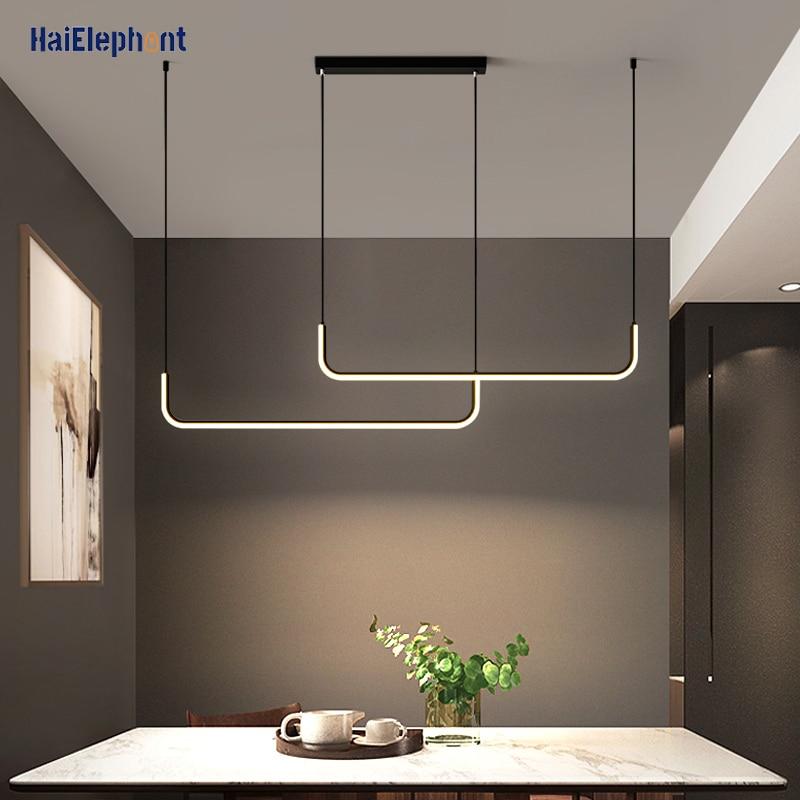 Lámparas LED colgantes modernas para salón, cocina, comedor, barra De Techo, luminaria...