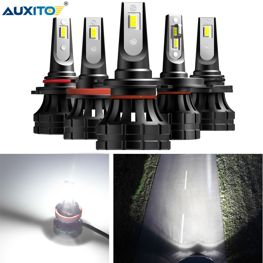 AUXITO 2x H11 H7 H4 9003 9012 9005 9006 LED Headlight Car Light Bulb For Hyundai I20 I30 I35 IX20 IX35 Solaris Verna fit Renault