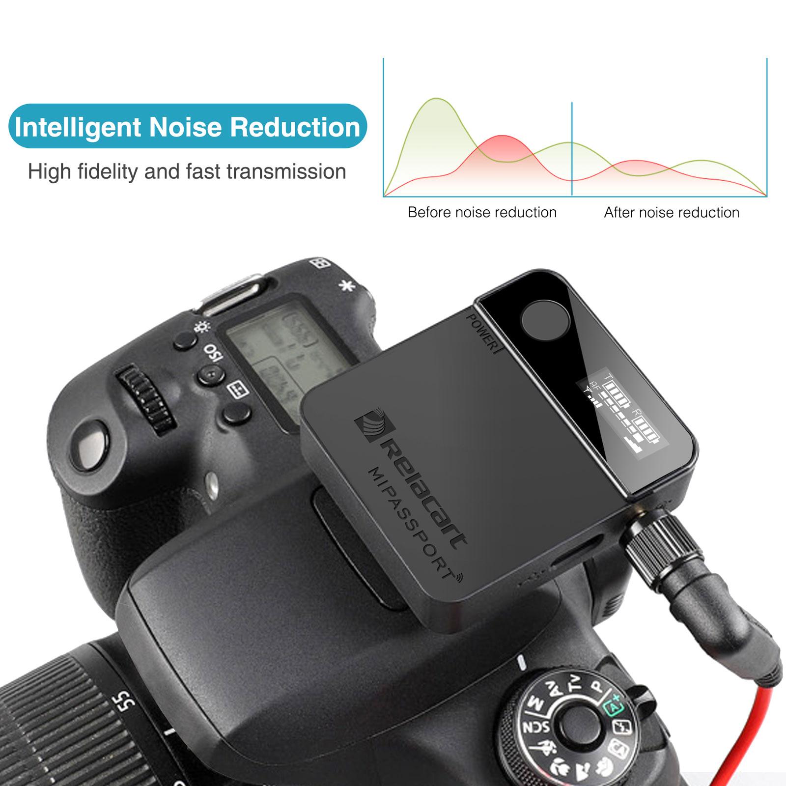 Wireless Lavalier Microphone Mic Transmitter Receiver Studio Clip-on Recording for Vlog Video Camera for Smartphones DSLR Camera enlarge