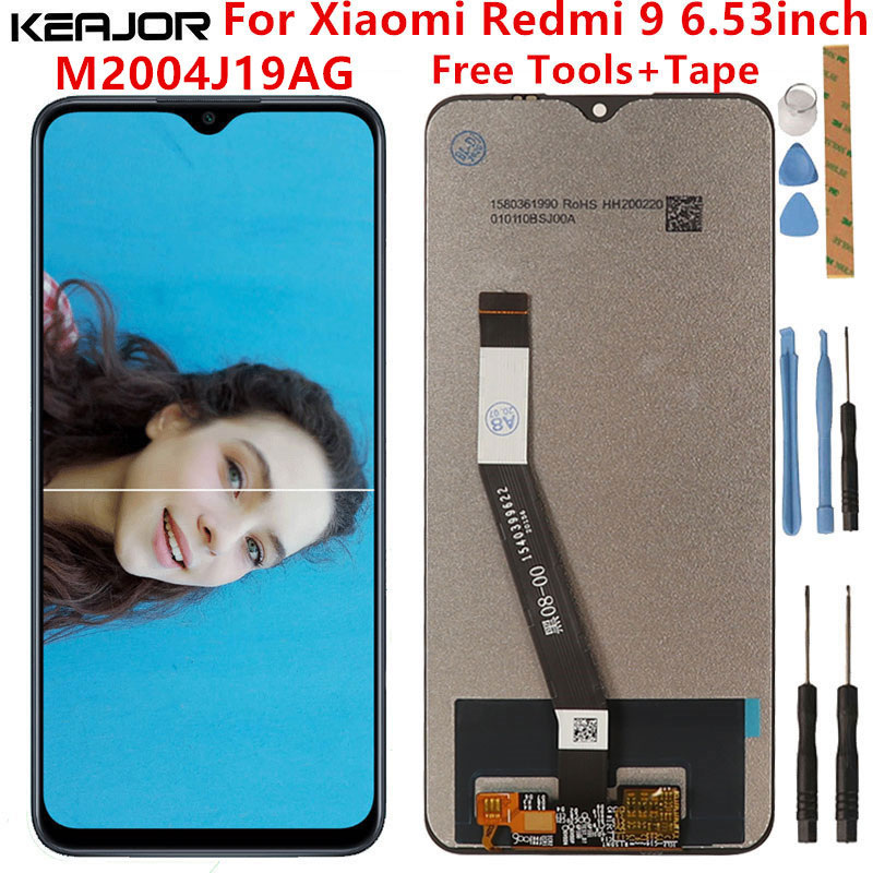 For Xiaomi Redmi 9 Lcd Screen Tested Lcd Display+Touch Screen Replacement For Xiaomi Redmi 9 M2004J19AG Black Screen 6.53inch недорого