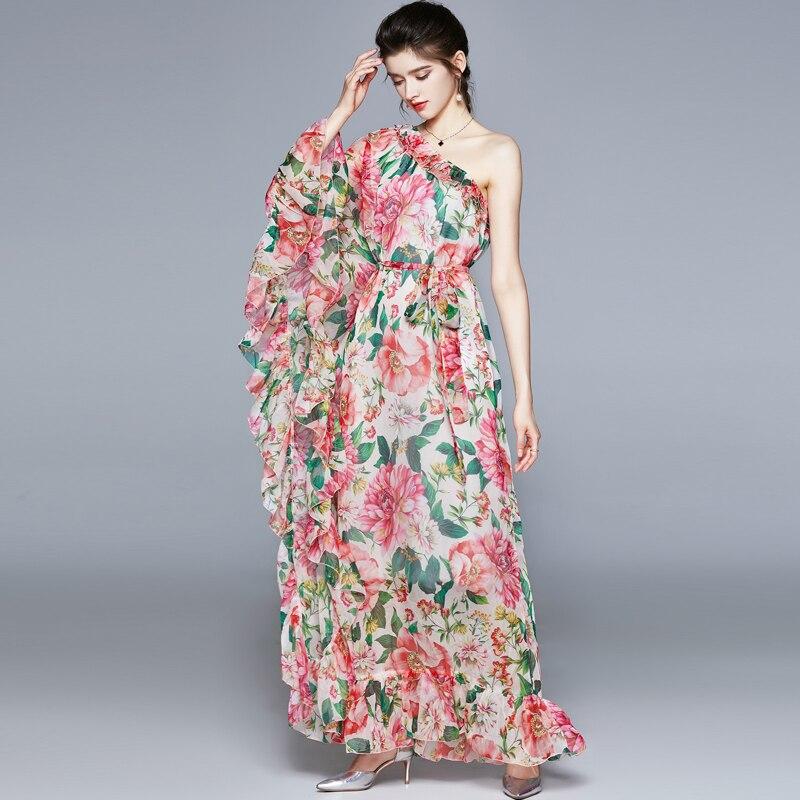 ZUOMAN Women Spring & Summer Elegant Floral Dress Festa High Quality Long Maxi Wedding Party Robe Femme Designer Vestidos