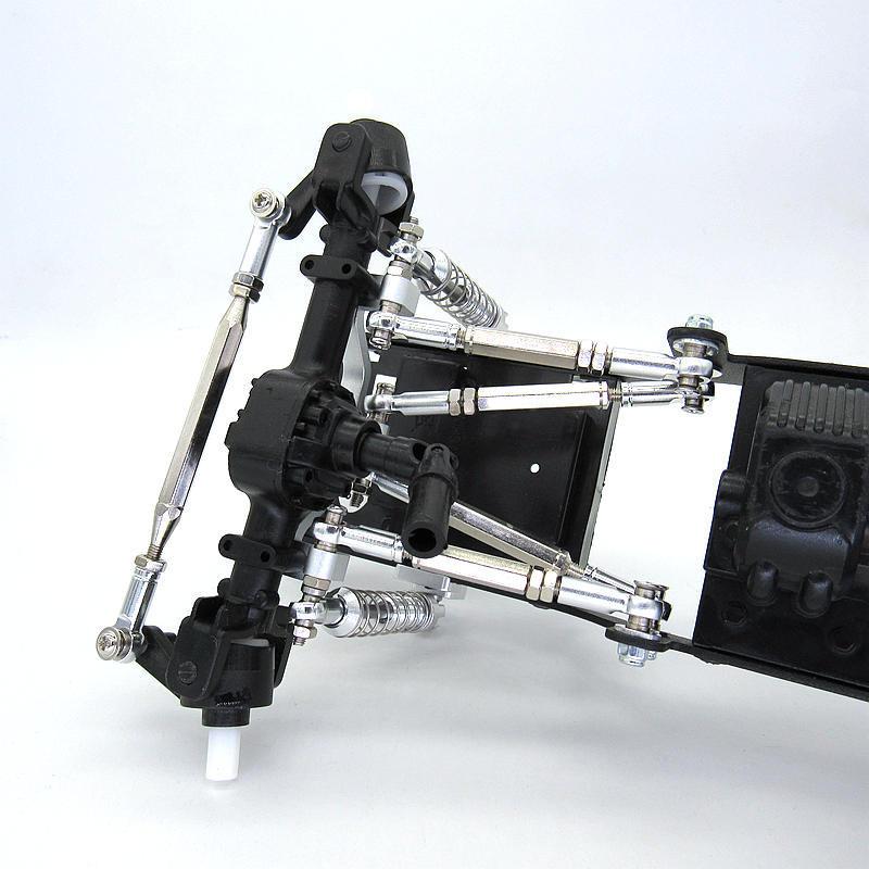 for MN D90 D91 D96 D99S MS MN90 1/12 RC Car Upgrade Parts Metal Pull Rod Steering Link Rod Pull Rod Base Set enlarge