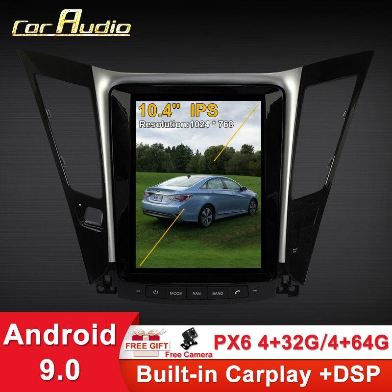 De Audio de coche para Android 9,0 de 10,4 pulgadas de pantalla vertical gps para coche radio multimedia bt reproductor de navegador para Hyundai sonata 8 2010-2015