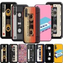 Original Retro Cassette Tape Silicone Case for Huawei Honor V30 30 8 8A 8X 8C 9 9X 10 Note View 20 20S Pro Lite