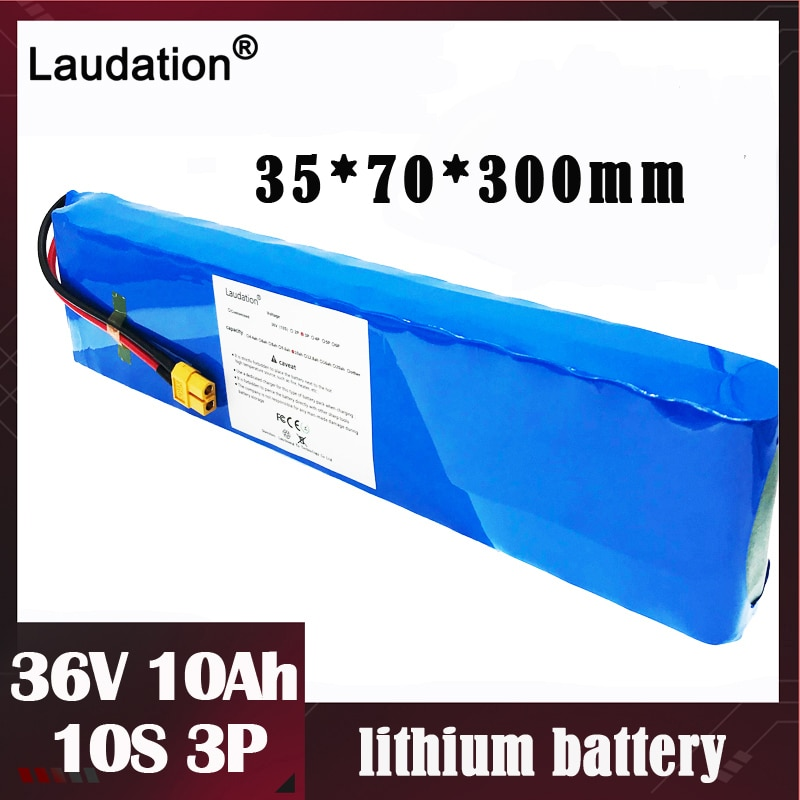 Laudation 36V 10Ah10000mAh batterie au Lithium intégré 15A BMS 18650 batterie haute capacité pour 500W puissant scooter de vélo électrique