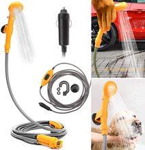 12 V Camping-Car Kit de douche extérieur Portable Camping voiture douche haute pression laveuse électrique pompe