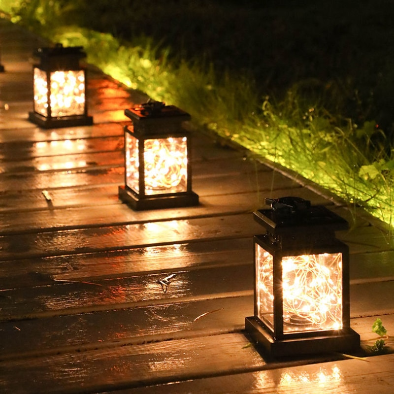 Royalulu LED Solar lamps Flickering Flameless Garden Lights Decoration Candle Outdoor Light Smokeless Solar Lantern For Camping