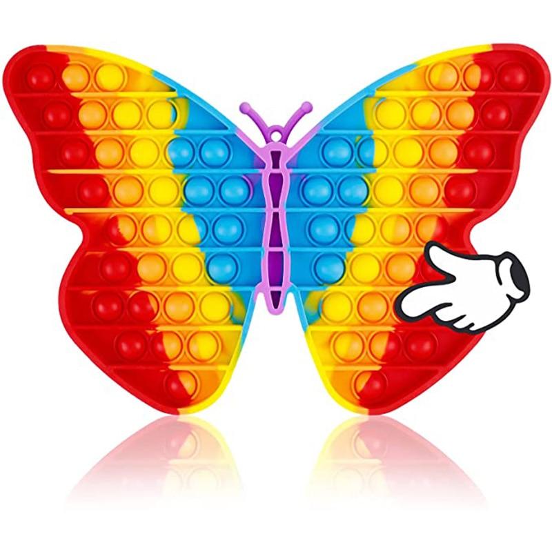 Большая популярная Радужная игрушка-бабочка, игрушка для сенсорных игр, подарок для детей, подростков, взрослые, взрослые, большие размеры, ...