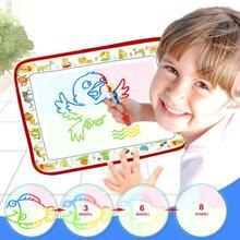Tapis de dessin deau magique avec stylo Non toxique coloré enfants Doodle Pad réutilisable tableau de peinture bébé enfants cadeau