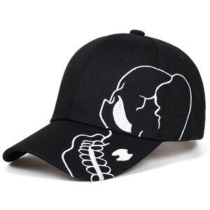 2021 new Unisex Cotton Outdoor Baseball Cap Skull Embroidery Snapback Fashion Sports Hats Cap Bone Garros