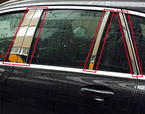 Para Benz GLC clase X205 2015-2017 accesorios de acero inoxidable para decorar la cubierta del poste del pilar de la ventana