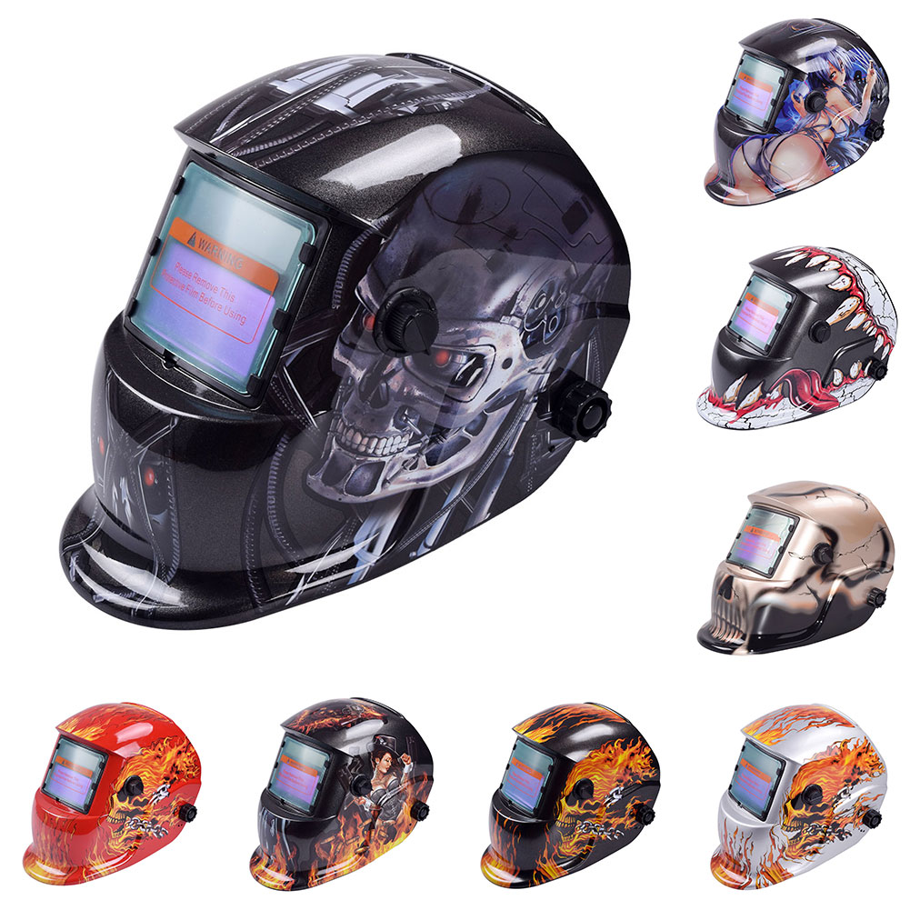 Electric Welding Mask Helmet Auto Darkening Adjustable Welding Lens Welding Electrician Protective Equipment Hard Box Packaging