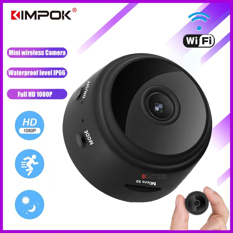 a9 camera wifi home security 1080p camera 4k hd security outdoor sports hd night vision 1080p aerial motion dv KIMPOK A9 IP Camera WIFI HD Mini Camcorder 1080P Home Small Camera Night Vision Motion Detection Sensor Security Cam