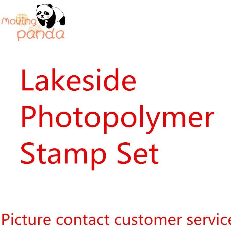 MovingPanda JC023 Lakeside Set de sellos de montaje transparente troqueles de corte de Metal y sellos para decoración álbum de recortes de papel para diario