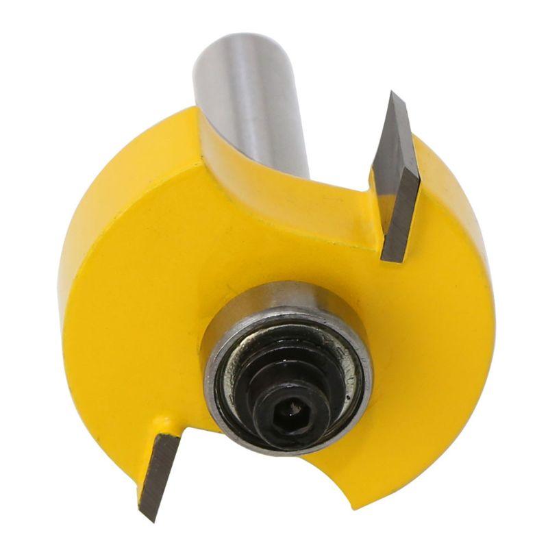 Cortador de Madeira Cortador para Ferramentas de Gravura em Madeira Bit com 6 A0kf Rabbet Roteador Rolamentos Conjunto 1 – 2 8mm Haste Tenon