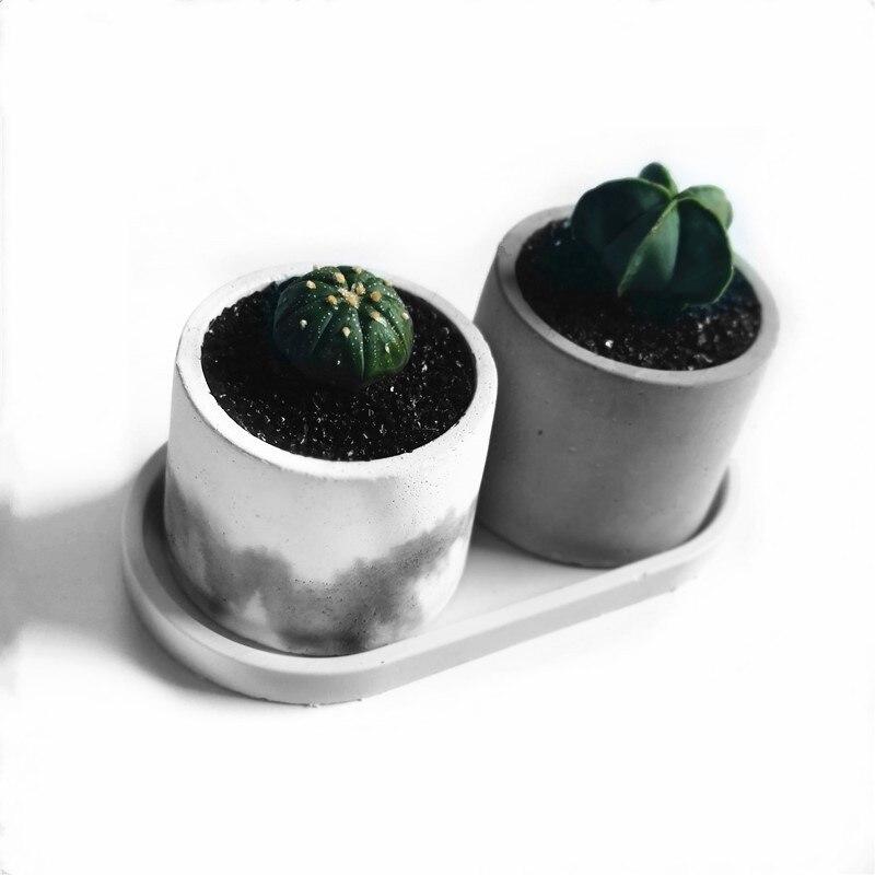 Diy moldes de concreto para pote redondo vaso de flores moldes de cimento plantador moldes