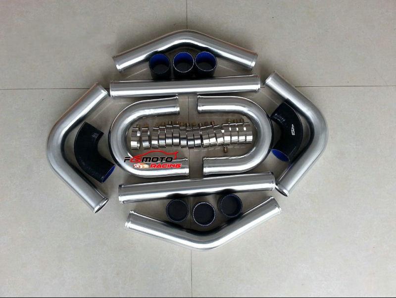 "2""inch 51mm Aluminum Universal Intercooler Turbo Piping pipe Kit + Hose"